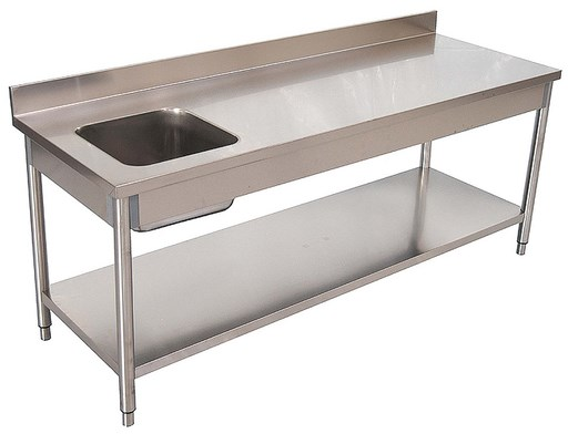 Location table du chef inox table de d coupe ou de tri for Table inox avec evier