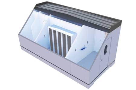 125 module sanitaire et vestiaire