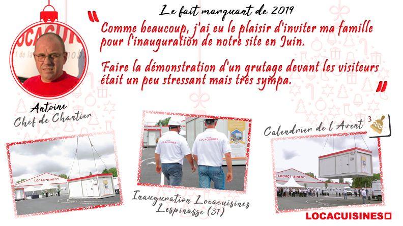 Calendrier de l'Avent Locacuisines > Antoine