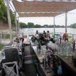 terrasse avec bar et matériel cuisine la guinguette Toulouse